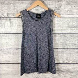 Anthropologie W5 Marled Embroidered tank top